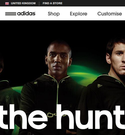 Adidas website screenshot