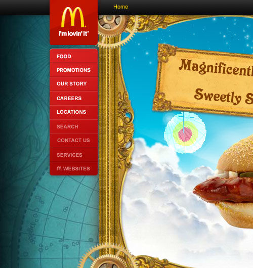 McDonald's website screenshot