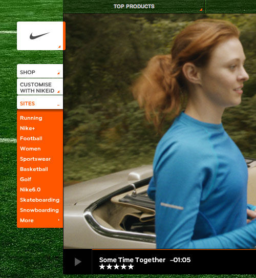 Nike website screenshot