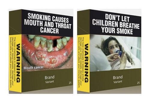 Generic cigarette packaging