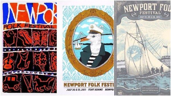 Newport Folk Festival posters
