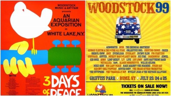 Woodstock Festival posters