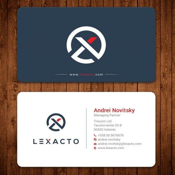 round corner  logo  lawyer business card