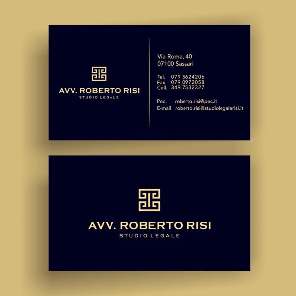 gold black greek symbol business card