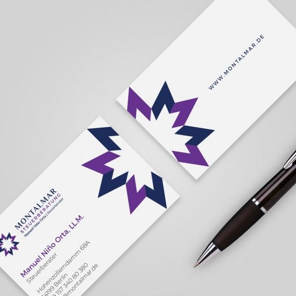 purple graphic business card