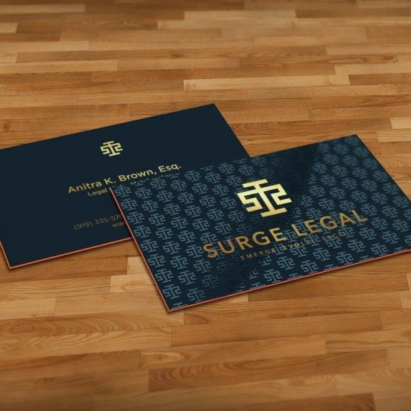 patterned, colored edge lawyer business card
